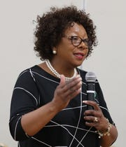 East Ramapo Schools Superintendent Dr. Deborah Wortham speaks during a budget presentation workshop at the Yeshiva of Spring Valley girls school in Monsey April 29, 2019.