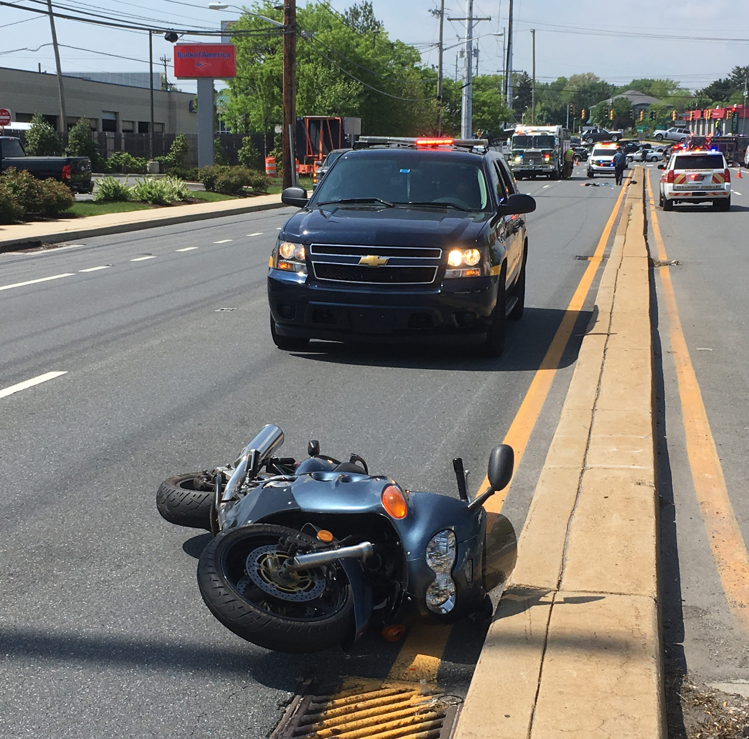 Motorcycle driver seriously injured in crash at Limestone, Kirkwood