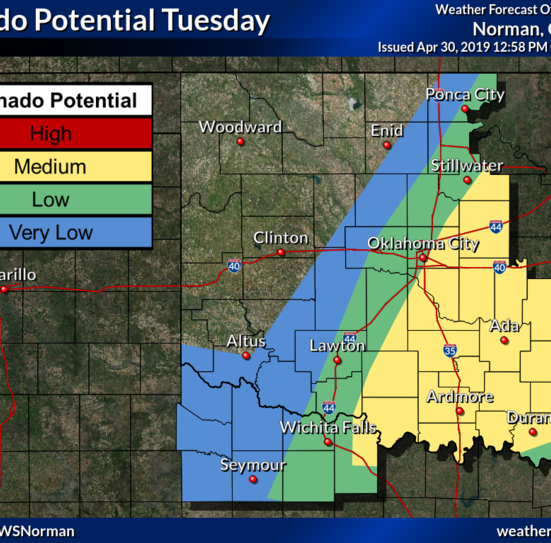 Wichita Falls area in tornado watch until 11 p.m. Tuesday