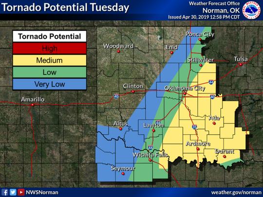 Tornado potential Tuesday