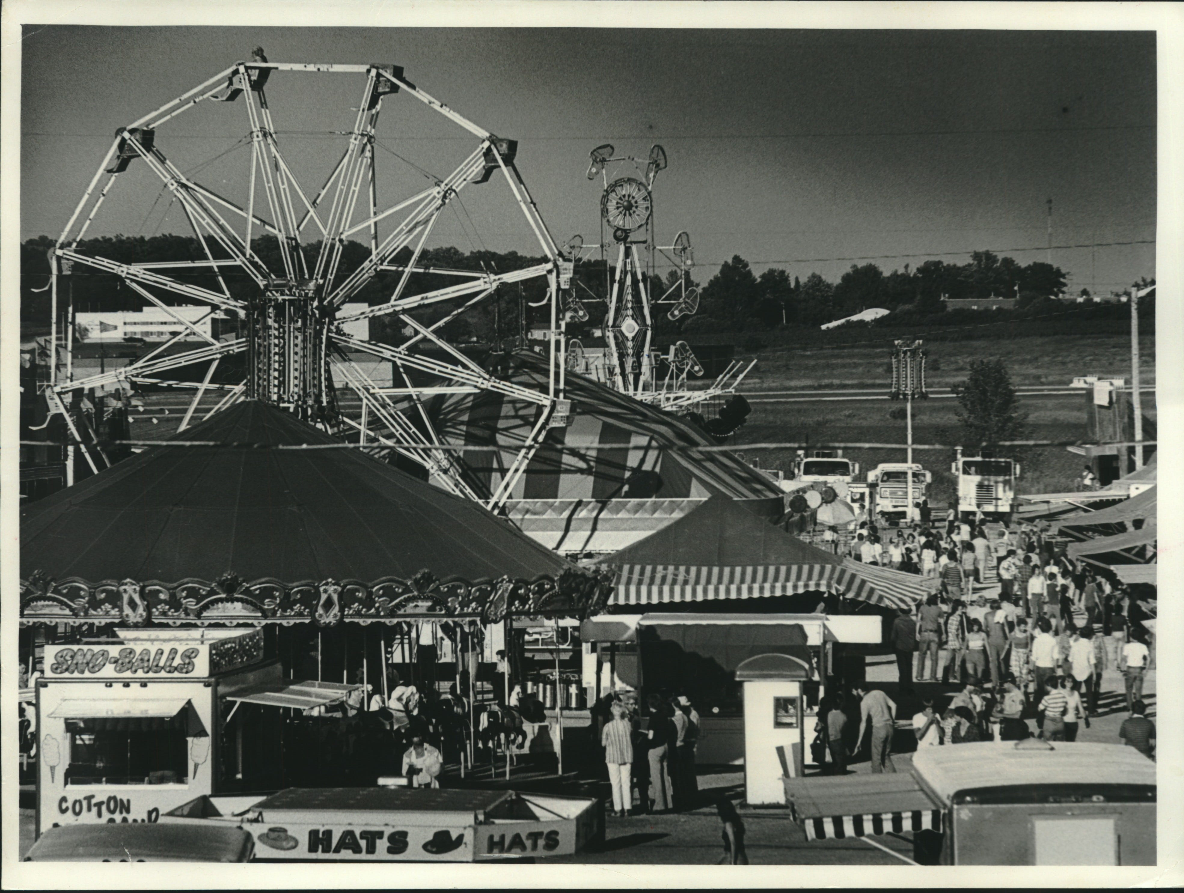 The midway attracted fairgoers at the Waukesha County Fair, which opened Wednesday.