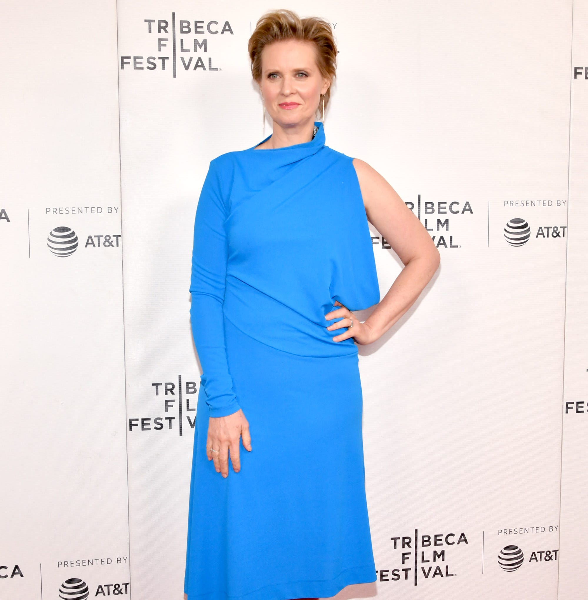 "NEW YORK, NEW YORK - APRIL 27: Cynthia Nixon attends the ""Stray Dolls"" screening during the 2019 Tribeca Film Festival at Village East Cinema on April 27, 2019 in New York City. (Photo by Slaven Vlasic/Getty Images for Tribeca Film Festival) ORG XMIT: 775329685 ORIG FILE ID: 1145539916"