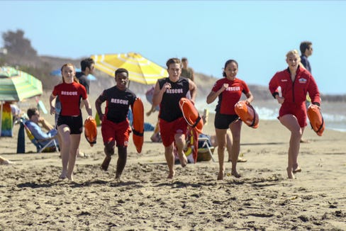 A rag tag team of junior lifeguards compete against snoba for the top tower in this Netflix original, premiering May 13.