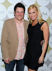 Rascal Flatts member Jay DeMarcus and wife Allison DeMarcus on April 2, 2011 in Las Vegas, Nevada.