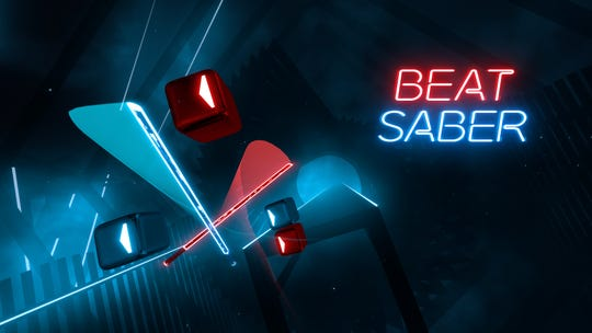Beat Saber game on Oculus Quest