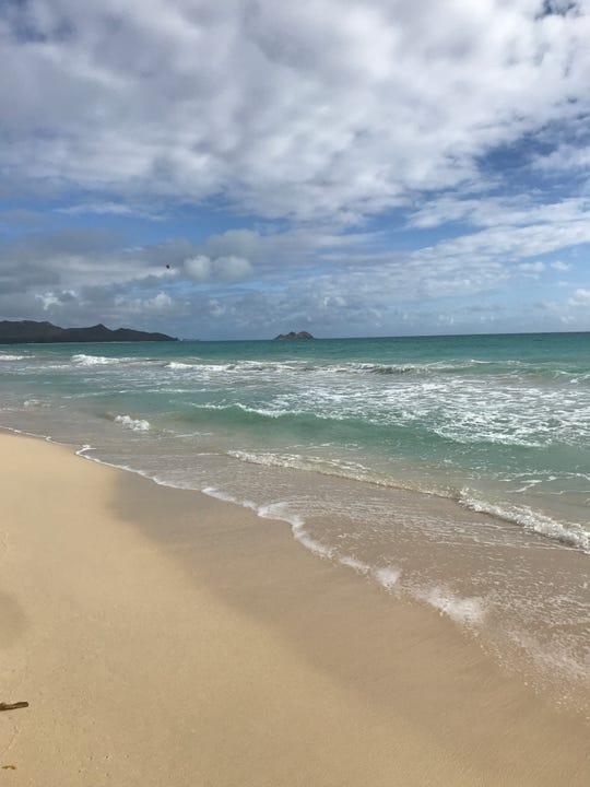 Waimanalo Bay beach, on Oahu's east side, is worth the 40 minute drive from Waikiki.