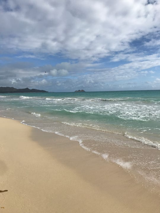 Waimanalo Bay beach, on Oahu's east side, is worth the 40 minute drive from Waikiki.