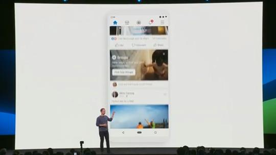 Zuckerberg unveils new Facebook interface