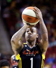 Riquna Williams, shown during a July 2013 WNBA game.