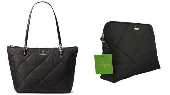 Get select nylon Kate Spade pouches and handbags on sale starting at $29.