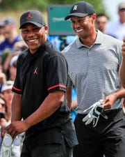 As a favor to Harold Varner III, Tiger Woods filmed an inspirational video in Augusta, Ga., for a young man battling cancer.