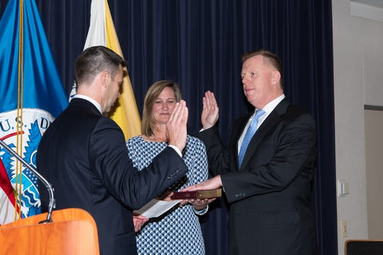 James M. Murray being sworn in as director of the U.S. Secret Service