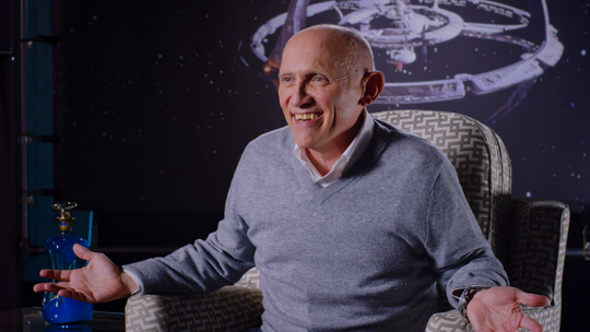 "Armin Shimerman in a scene from the documentary ""What We Left Behind."""