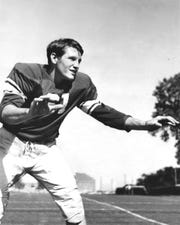 Myrle Greathouse was a two-way star of the Oklahoma University Sooners in the 1940s.