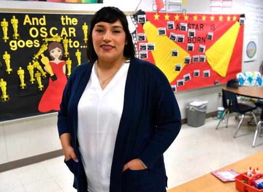 Nicole Flores, a third grade teacher at Ortiz Elementary School, in her classroom May 1.