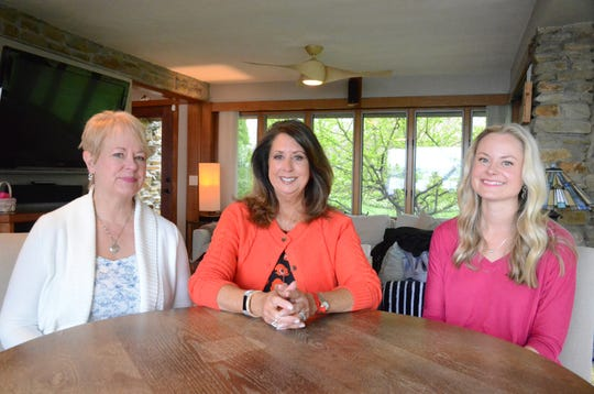 Nancy Durkee, from left, Kathy-Sue Vette and Sara Dunn have won George Awards for 2018.