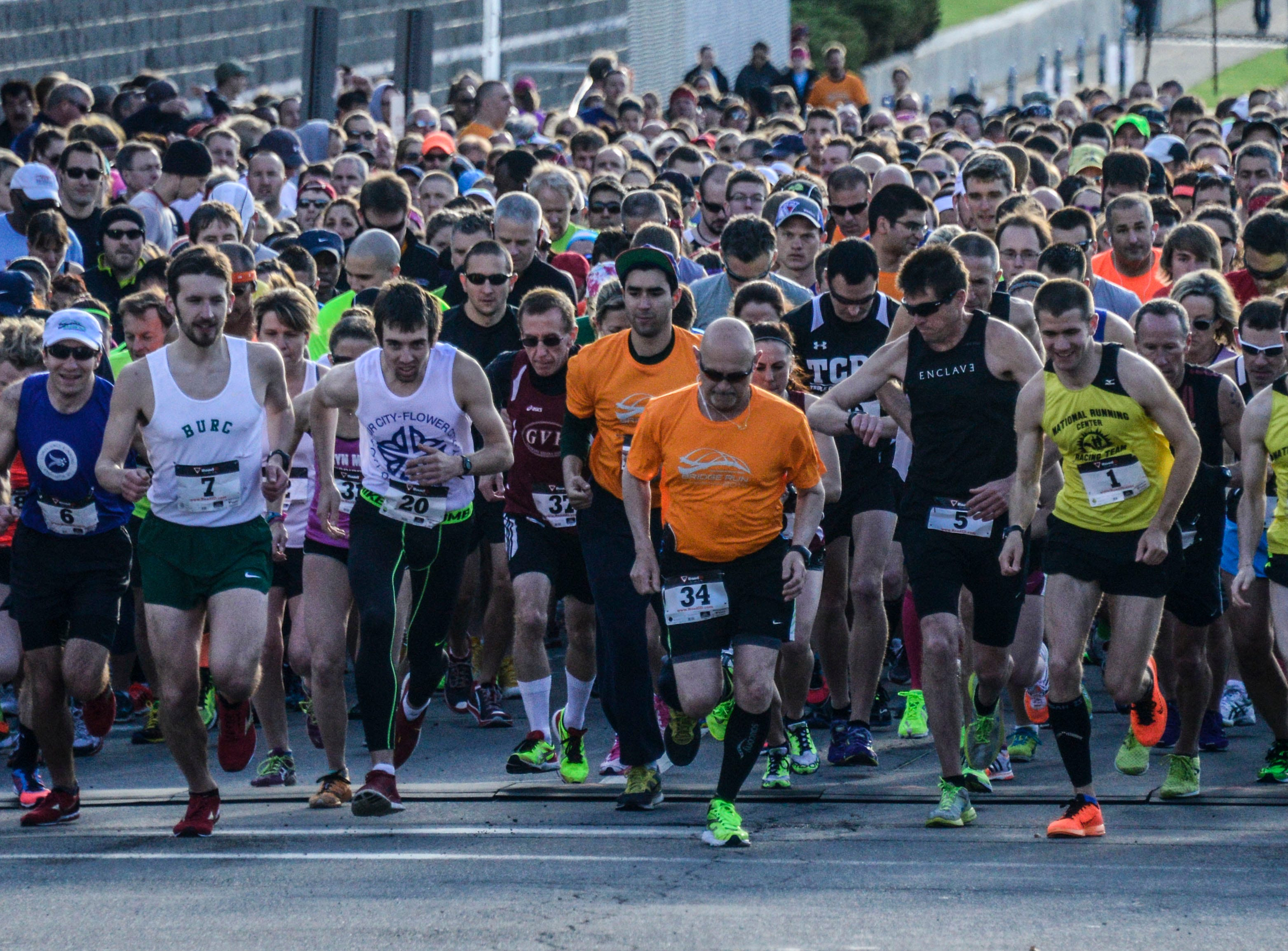 2014: Runners compete in the fourth annual Greater Binghamton Bridge Run on Sunday, May 4.
