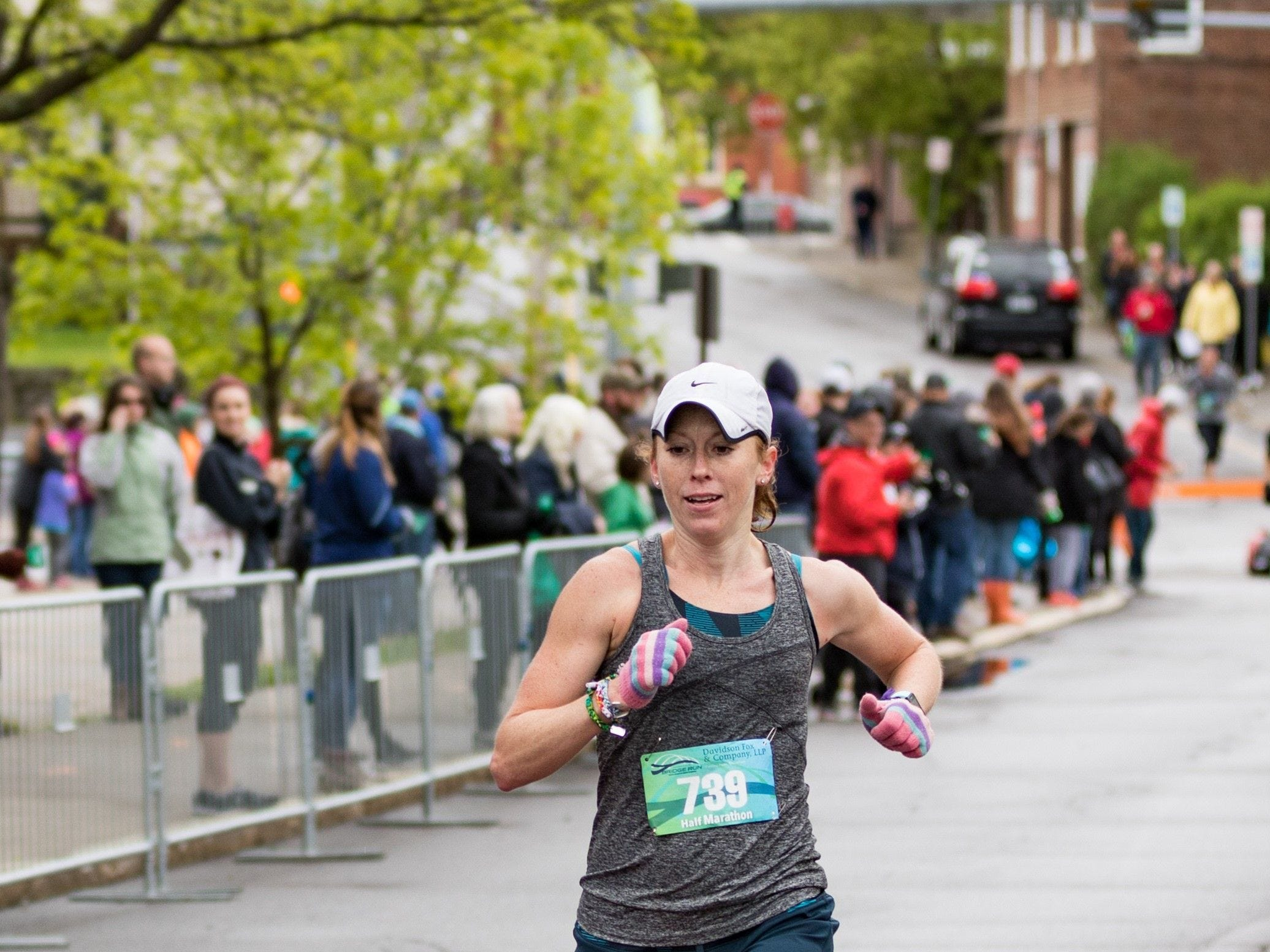 2017: Pine City's Hollie Hughes, 34, was the top female finisher with a time of 1:25:52 in Sunday's Binghamton Bridge Run. Hughes was the 16th overall finisher, male or female.