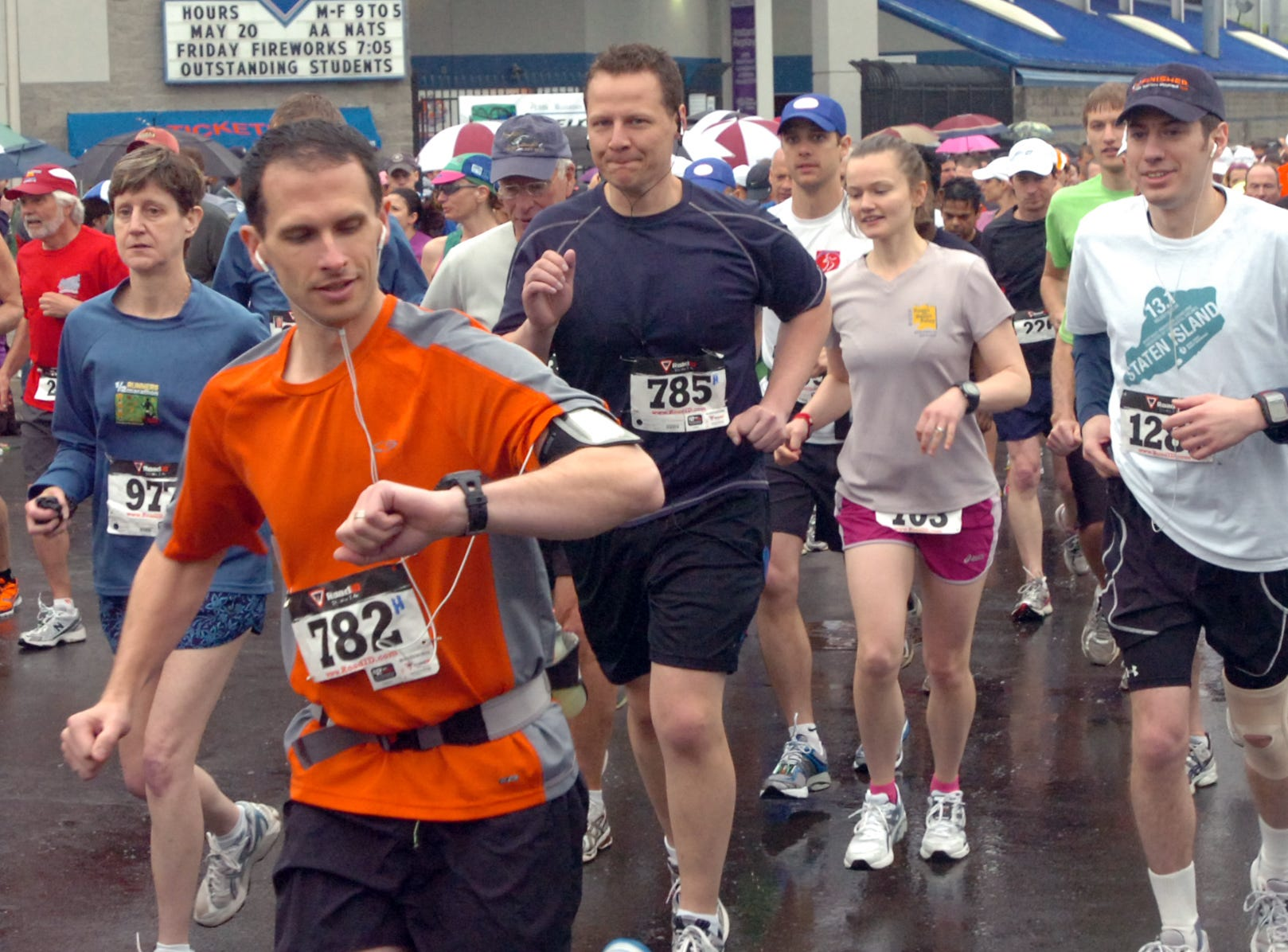 2011: The inaugural Greater Binghamton Bridge Run Half Marathon & 5K races were held Sunday on a course through streets and over bridges in downtown Binghamton, starting and ending at NYSEG Stadium.