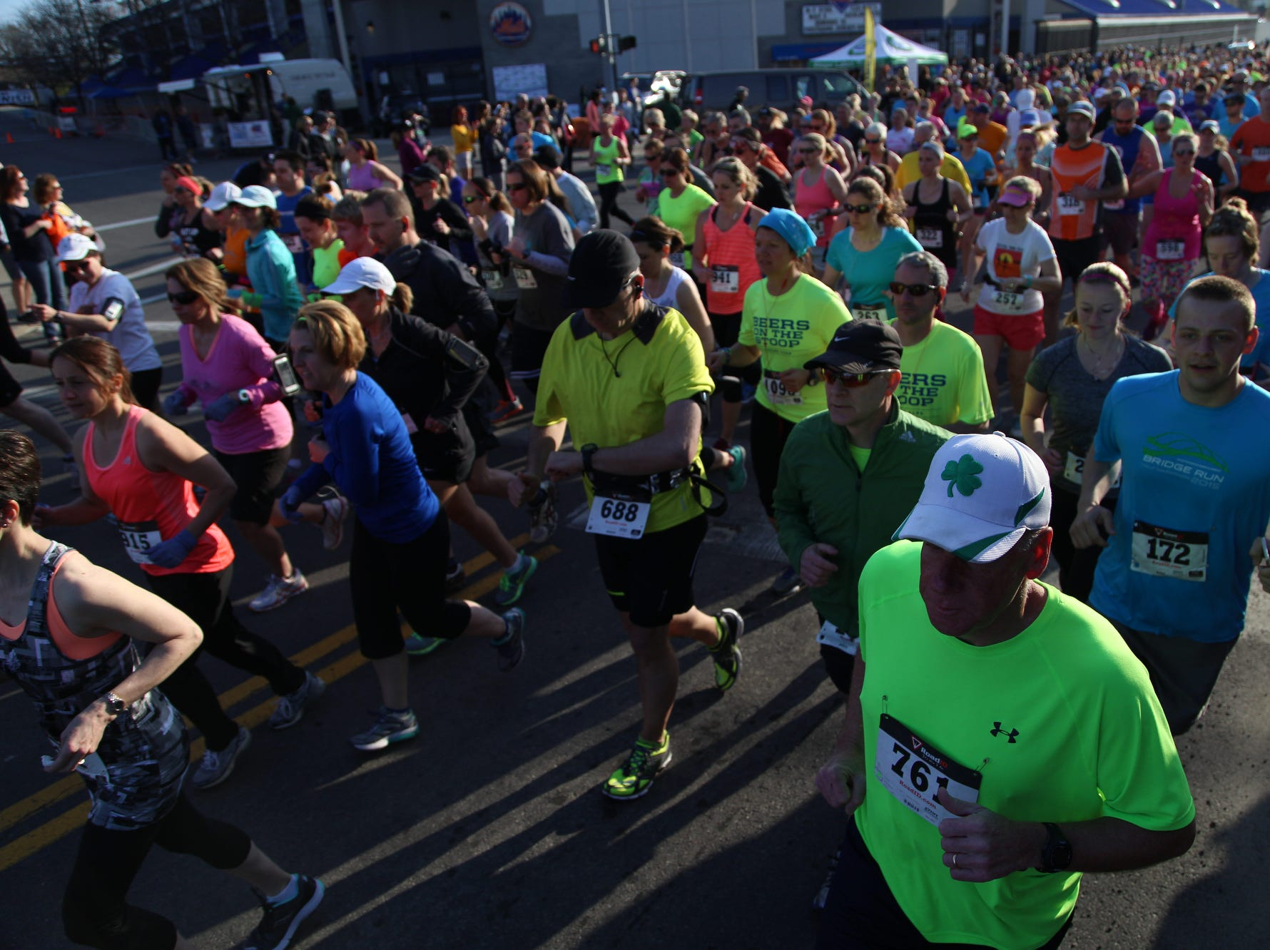 2015: Hundreds of runners participated in the Greater Binghamton Bridge Run Half-Marathon on Sunday, May 3, 2015.