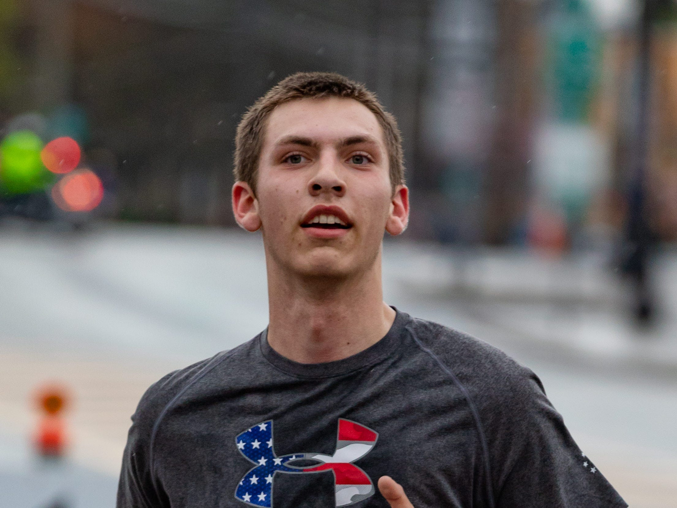 2018: Chenango Valley High School Senior Jackson Retzlaff turned in a 8:09 pace on the way to the finish line at the Binghamton Bridge Run Half Marathon.