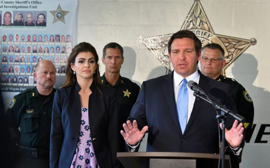 In May,  a press conference was held in Sharpes that included Governor Ron DeSantis, First Lady Casey DeSantis, Florida Attorney General Ashley Moody, and Brevard Sheriff Wayne Ivey, describing a full scale illegal drug investigation. Dozens were arrested.