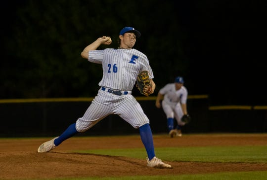 Carter Stewart pitches for Eastern Florida State. Courtesy of EFSC.