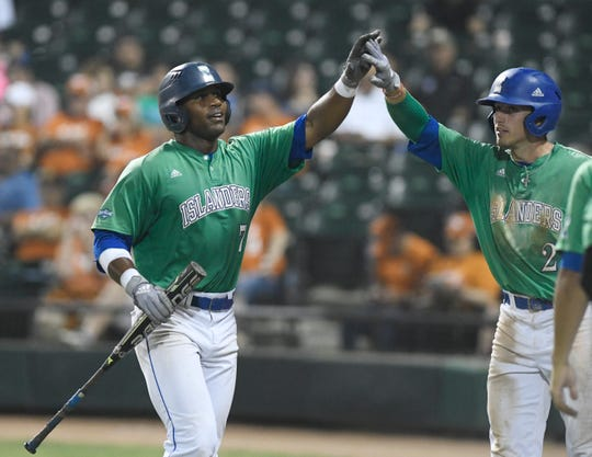 The Texas A&M-Corpus Christi baseball team will take on Texas in a game, Tuesday, April 30, 2019, at Whataburger Field. The Islanders won, 8-2.