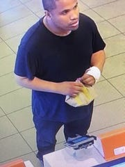 This man is wanted for allegedly passing off counterfeit $20 bills at various businesses, including the McDonald's on Rte. 541 in Burlington Twp. Police know his identity but have not released it.