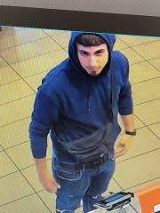 Burlington Twp. police say this man has been passing off counterfeit $20 bills at various establishments.