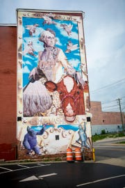 """The """"Campy Washington"""" mural was designed by Scott Donaldson ."""