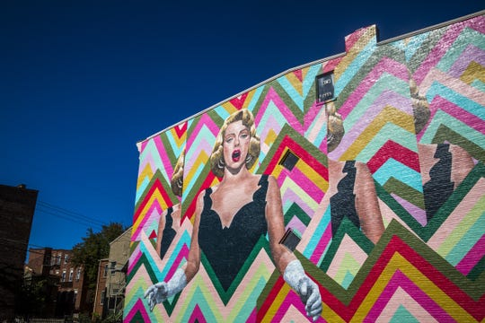 ArtWorks Cincinnati dedicates new Over-The-Rhine mural of Rosemary Clooney Saturday, October 8, 2016.