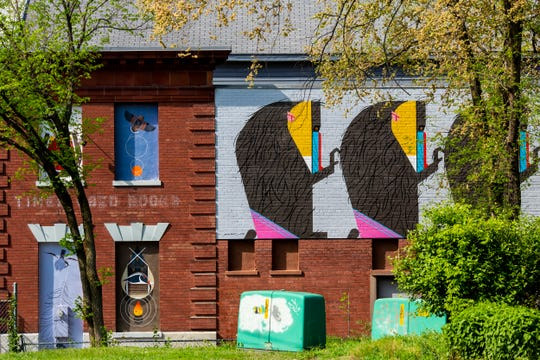 """The """"Charley HarperÕs Beguiled by the Wild"""" murals are located at 3512 Vine Street in Avondale.There are 18 murals that span the career of Charley Harper. ArtWorks partnered with Cincinnati Zoo and Botanical Garden to create these murals."""
