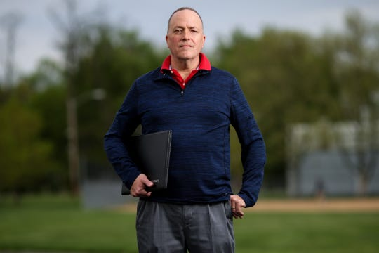 Derek Murphy, a financial analyst from Lebanon, Ohio, is pictured, Wednesday, April 24, 2019, at Bechtold Park in Sycamore Township. A runner himself, he is behind marathoninvestigation.com, looking into those who cheat while running marathons.