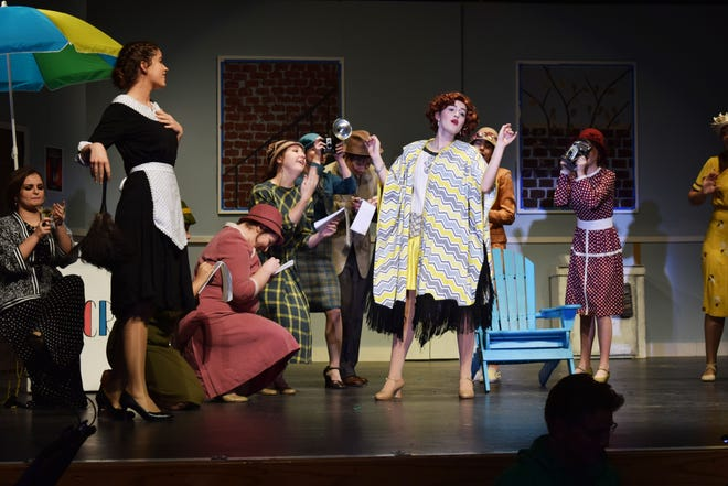 """In one of the productions Cappies critics reviewed this year, Loveland High School's """"The Drowsy Chaperone,"""" Follies star Janet Van de Graaff, played by Anna Colletto, tells reporters she """"don't wanna show off no more."""""""