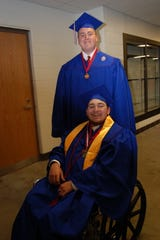 Dallas Willoughby and Nate Woolum, 17 at Conner graduation in 2011.