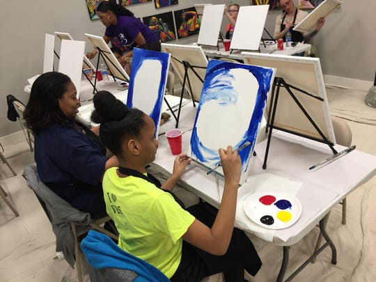 In an extension of the show, a group of Clarksville High School seniors will also exhibit at the gallery for the Art Walk, creating a multi-generational experience with artists ranging from under 10 years old to those in their 30s.