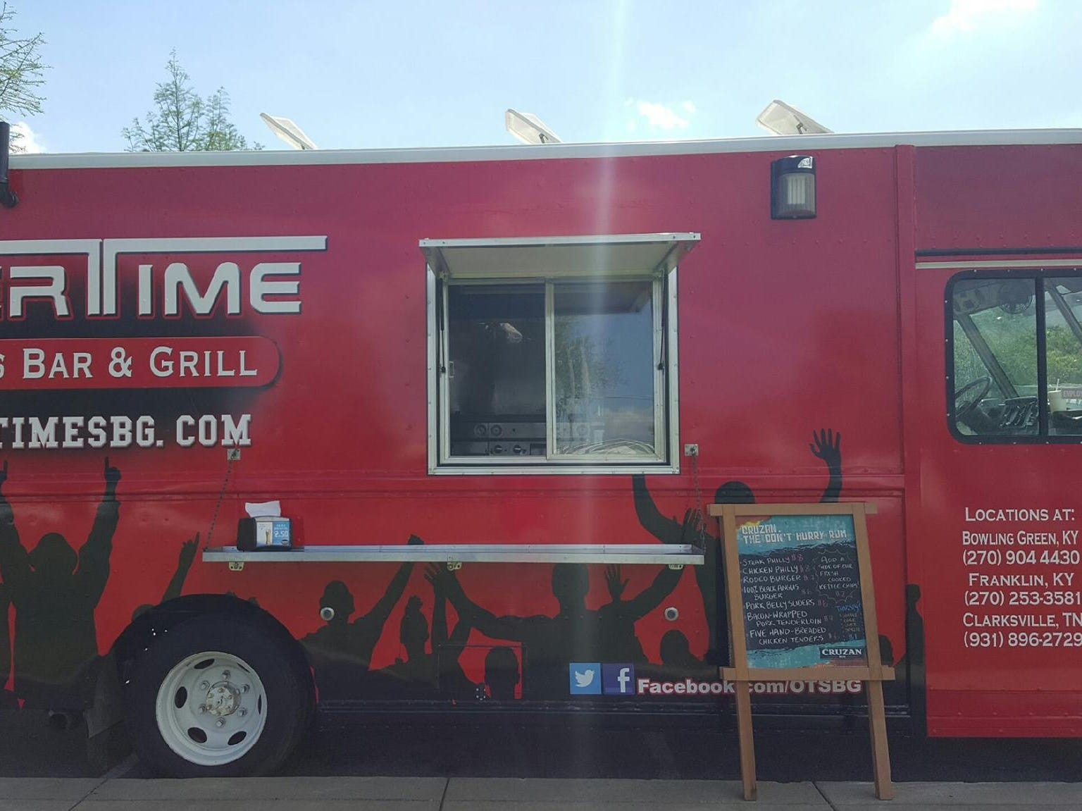 The Overtime Sports Bar & Grill food truck.
