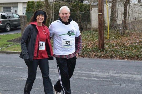 Program Director Margaret Heisey (left) and Scotch Plains Mayor Al Smith.