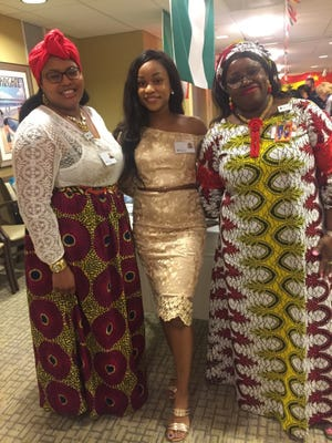 (From left to right)Alexia Thomas, Human Resources manager representing Puerto Rico and Jamaica; Chidera Ekweghariri, hospitality associate representing Nigeria; andFolasade Oguntola, staff development coordinator representing Nigeria.