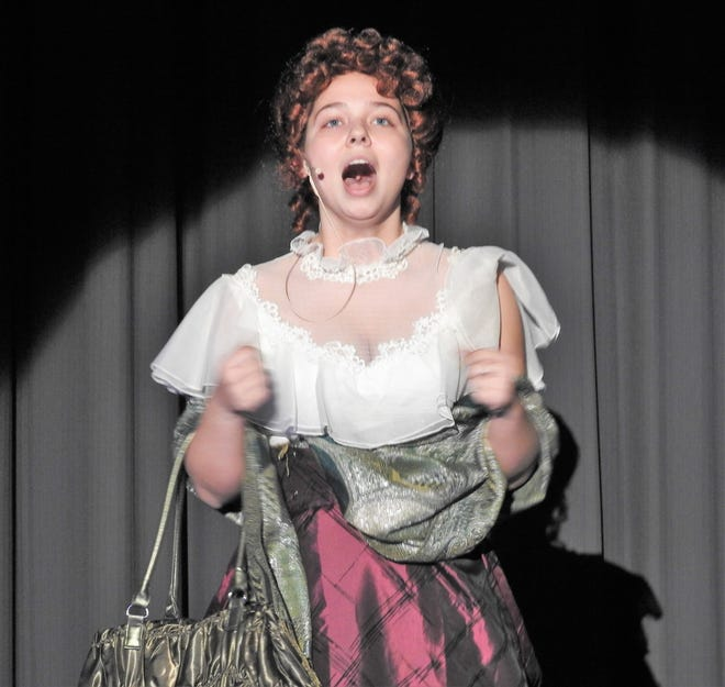 """Sam Corbett plays Dolly Levi in """"Hello, Dolly!"""" at 7:30 p.m. Friday and Saturday at River View High School. Tickets are $6. A dinner is prior from 5 to 7 p.m. with tickets $8 for adults and $5 for children 10 an under."""