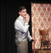 "Cole Tatro plays Horcace in ""Hello, Dolly!"" playing this weekend at River View High School."