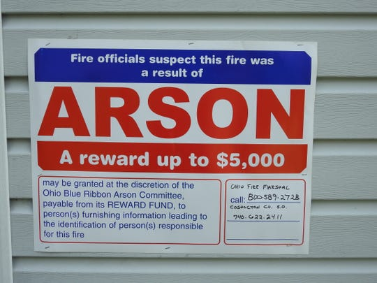 A reward of $5,000 is being offered for anyone with information leading to identification of those who set a believed arson Wednesday afternoon at 1109 Orchard St.