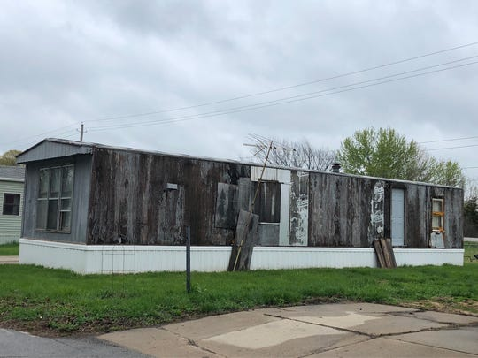 This occupied mobile home in the North American Mobile Home Park in Indianola will be subject to monthly inspections.
