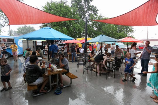 Detroit Fleat, Food Truck Park and Boozery in Ferndale was greeted with large crowds during the grand opening celebration on Friday, July 7, 2017. The venue features a full-service bar and restaurant attached to Metro Detroit's first permanent food tuck patio.