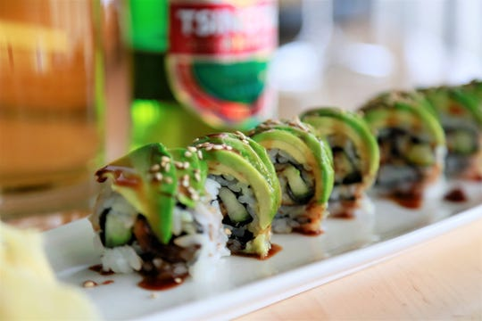 Cucumber and avocado roll from Zao Jun in Bloomfield Township.