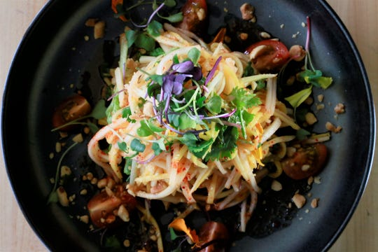 Thai-style green papaya and mango salad from Zao Jun in Bloomfield Township.