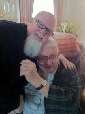 Russ Gibb, right, with friend M.L. Liebler, was a poet, musician and teacher.