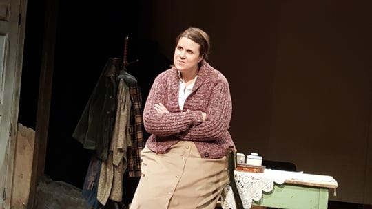 """Sarah Clare Corporandy plays Maureen, the protagonist of """"The Beauty Queen of Leenane"""" at the Detroit Public Theatre through May 26."""