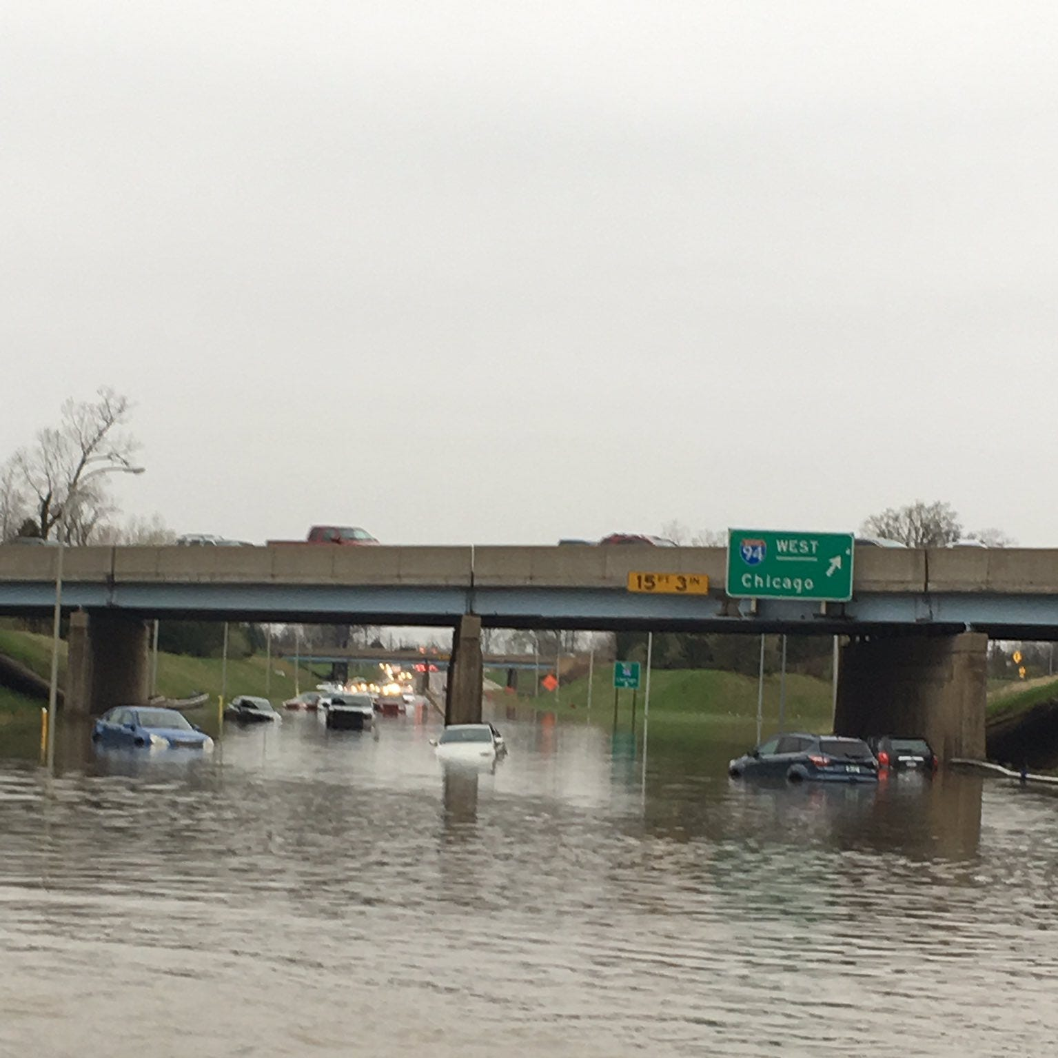 Flooding closes Lodge at Jefferson, Southfield Freeway at Outer after record rainfall